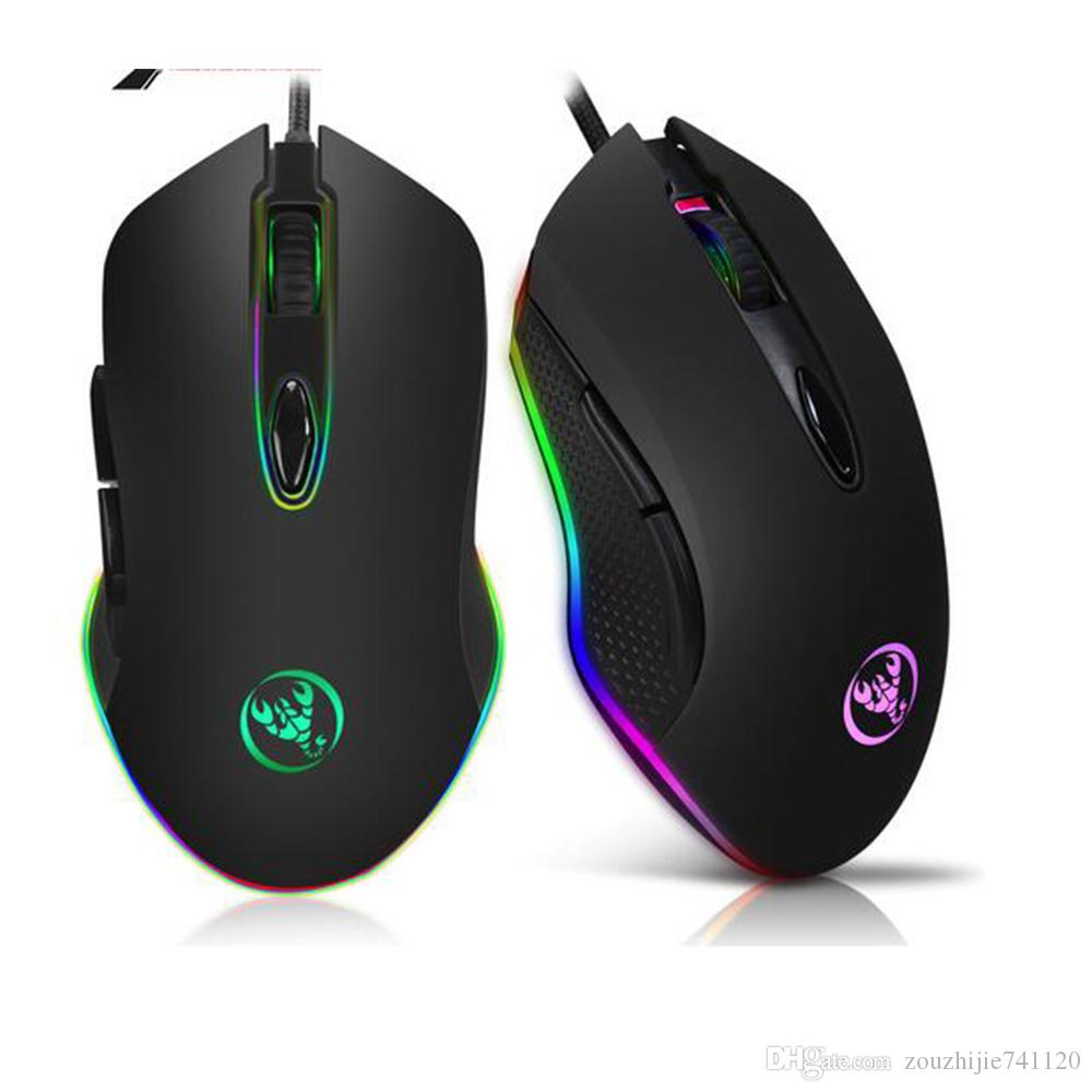2018 Gaming Mouse Usb Wired Mouse 6 Buttons 200 4800dpi Optical Usb ...