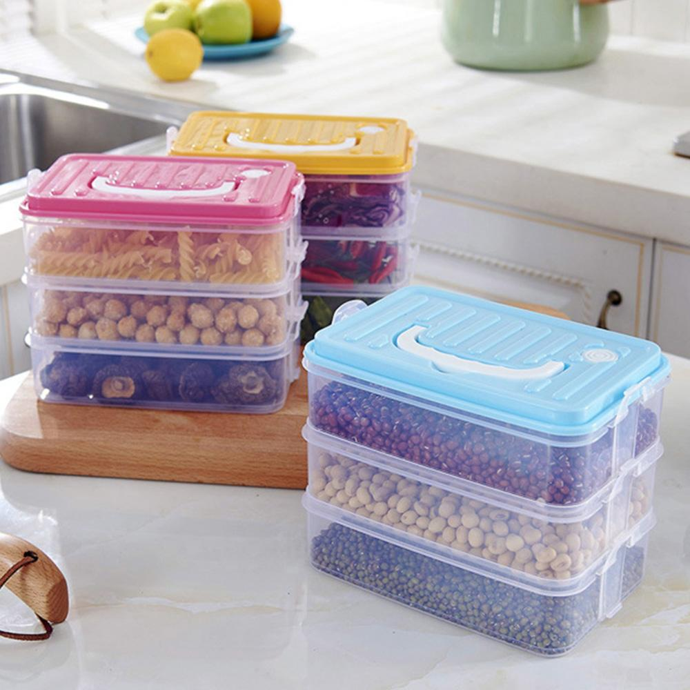 2018 Makeup Organizer Storage Containers Refrigerator Storage Boxes Portable Lunch Box Plastic Food Container For The Office Kitchen From Lanweidu ... & 2018 Makeup Organizer Storage Containers Refrigerator Storage Boxes ...