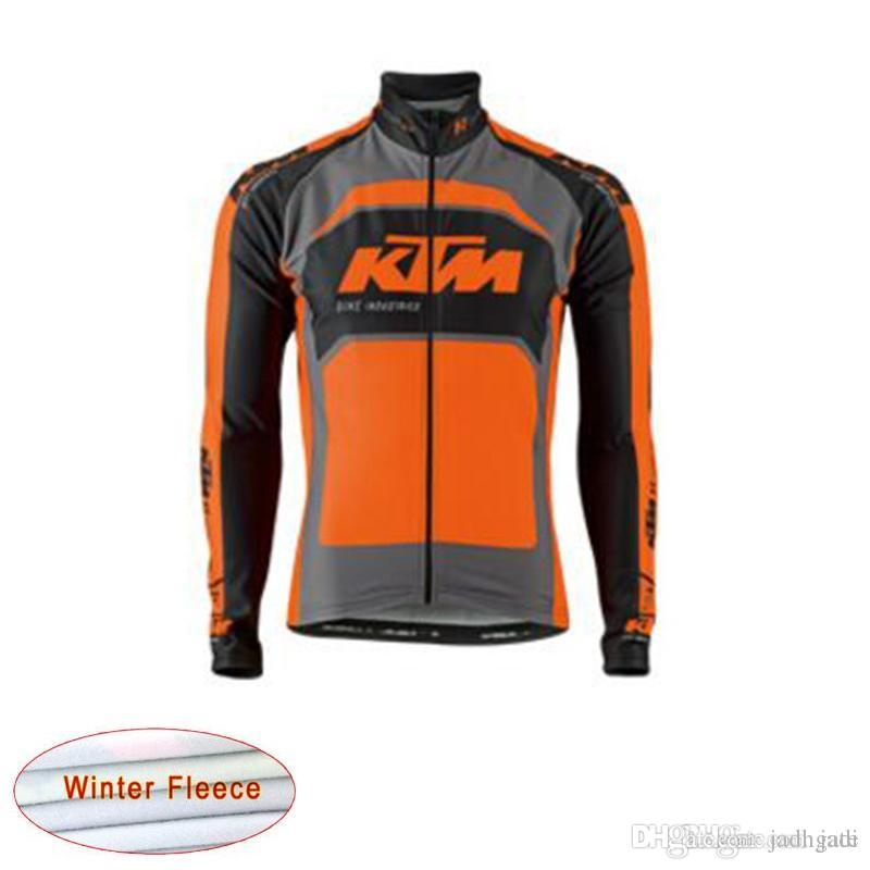 dc250f71e99 KTM Pro Team Cycling Thermal Fleece Jersey Long Sleeve Ropa Ciclismo ...