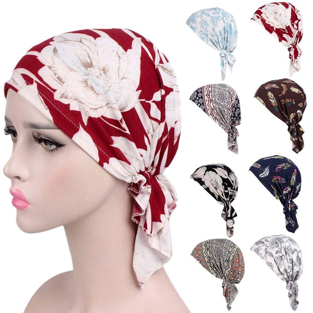 2019 Fashion Printed Women Muslim Elastic Turban Cotton Hat Head Wrap Chemo  Cap From Fashionable16 55e4524b873