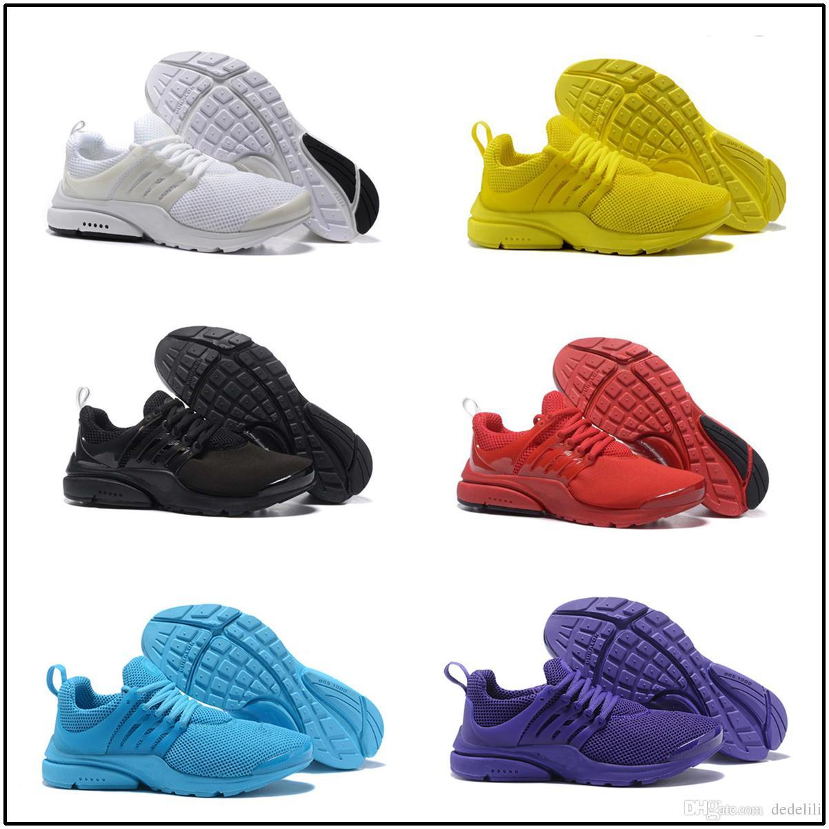 pretty nice fdec5 de774 Compre 2018 New Nike Air Presto 5 BR QS Breathe Negro Blanco Amarillo Rojo  Hombres Zapatos Zapatillas De Deporte Mujeres Zapatillas Calzado Calzado ...
