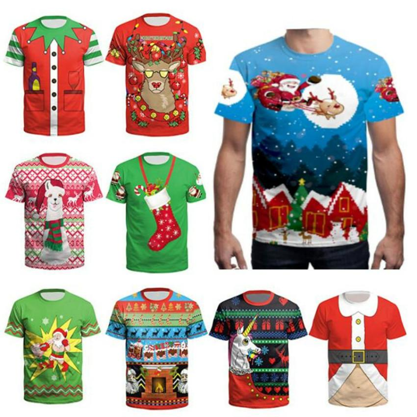 Compre S 3XL Camisetas Unisex De Navidad Para Adolescentes Niños Niñas Manga  Corta Papá Noel Estampado Hombres Mujeres Fiesta De Navidad Camisetas O  Cuello ... 9d622a1535b54