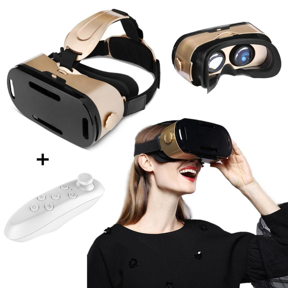 0a1eb353bef8 VR Headset with Remote Controller 3D VR Glasses for 3D Movie Game Virtual  Reality Goggles for iPhone 8 Plus All 4.7-6.0