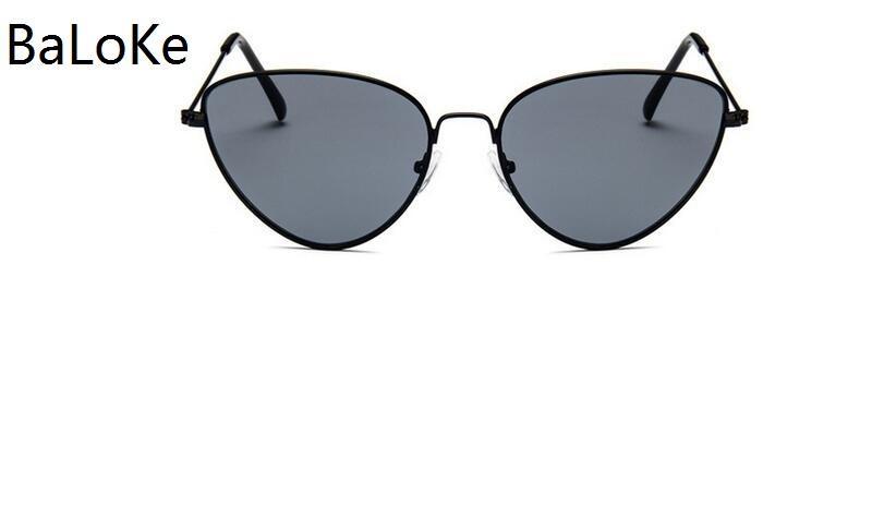 408f277722 2018 Fashion Women Colour Luxury Flat Top Cat Eye Sunglasses Elegant Oculos  De Sol Men Twin Beam Oversized Sun Glasses Baseball Sunglasses John Lennon  ...