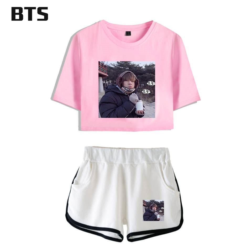 BTS V Hot Sale Kpop Sexy Crop Top Women Love Yourself Summer Kawaii Tops  Shorts And T Shirt Women Clothes 2018 Plus Size A8710 UK 2019 From  Dolylove 675643c5a7