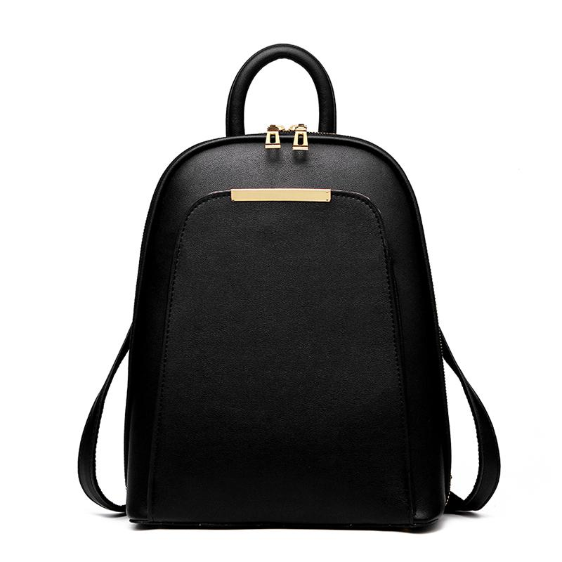 2017 Solid High Quality PU Leather Backpack Women Designer School Bags For Teenagers  Girls Luxury Women Backpacks Online with  37.55 Piece on Shoe80777 s ... 5fbfc4e5a661f