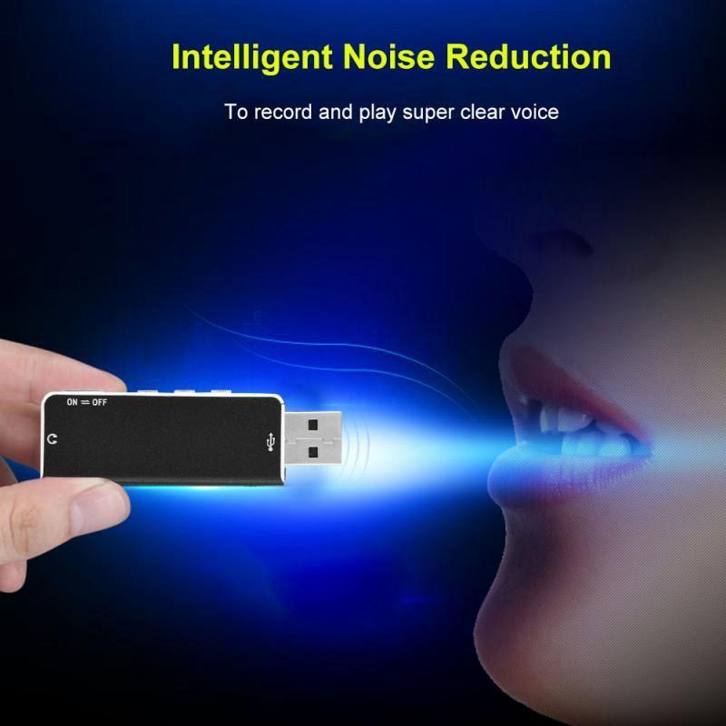 MINI USB DISK Digital Voice Recorder 8GB Professional Intelligent Noise Reduction Digital voice recorder USB Flash drive mini Dictaphone pen