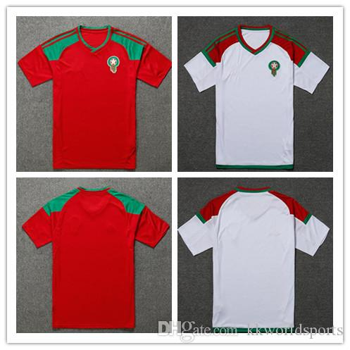 ddc075b844e 2018 world cup Morocco home Soccer Jersey Morocco national football team  home red soccer shirt 2018 Moroccan Football uniforms sales
