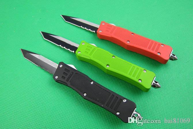 616 troodon automatic knife (T head) Zinc aluminum alloy handle 440  survival knife camping hunting jungle tactics A16 616