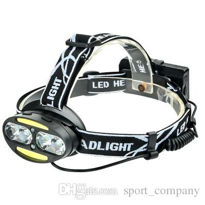 d3f1f0406 Compre T6 COB Sensor IR Sensor De Luz Delantera Linterna Micro USB 7 Modos  De Iluminación Fuente De Luz Dual Linterna De Inducción Antorcha Para Pesca  ...