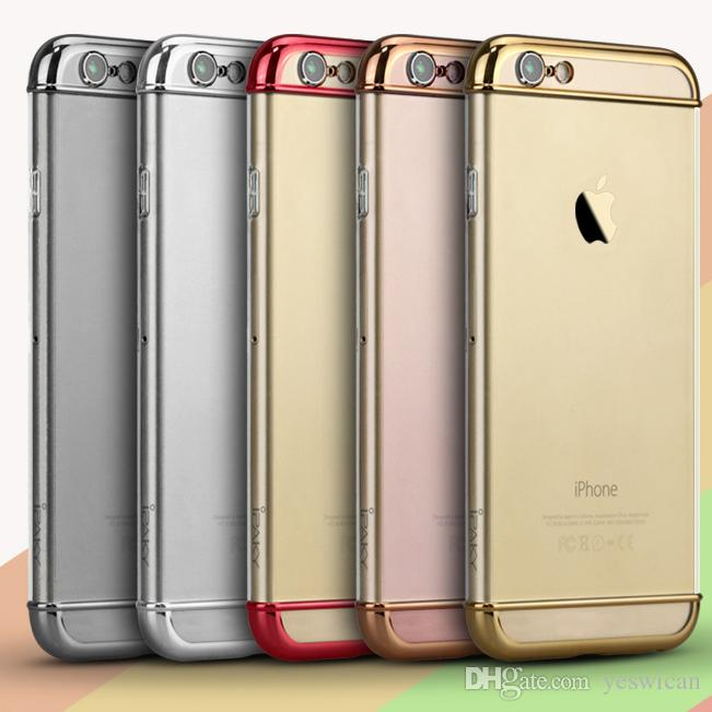67890a4ce60380 IPaky Case For IPhone 6 6S Plus PC Hard Back Cover 3 In 1 Detachable  Electroplating Transparent Cases With Package In Stock Wholesale Best Cell  Phone Case ...