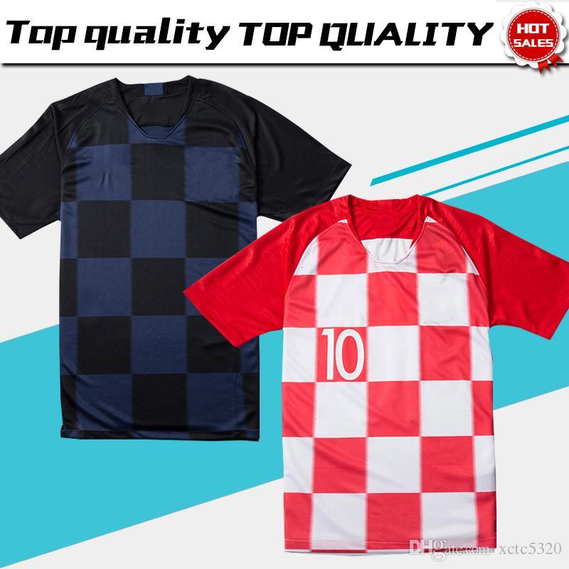 c169360cd 2019 2018 World Cup  10 MODRIC Home Soccer Jerseys 2018  17 MANDZUKIC Away  Football Uniform Thai Quality Soccer Shirts From Xctc5320