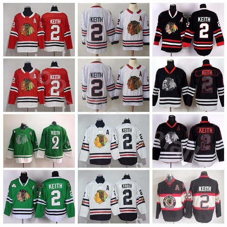 d2eaff9d3e3 ... clearance 2018 chicago blackhawks 2 duncan keith jersey men st patricks  day green red white black