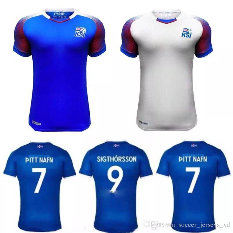2019 2018 World Cup Jerseys Iceland Home Away SIGURDSSON SIGTHORSSON Top  Quality Soccer Jerseys 2019 Iceland Player Version Soccer Tracksuit From ... 98ca92dc5
