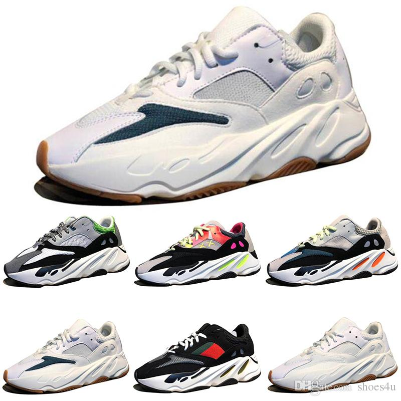 a94f634f8 Kanye West Wave Runner 700 Boots Grey Classic Running Shoes For Men 700s  Womens Mens Sports Sneakers Trainers Outdoor Designer Causal Shoes Top  Running ...