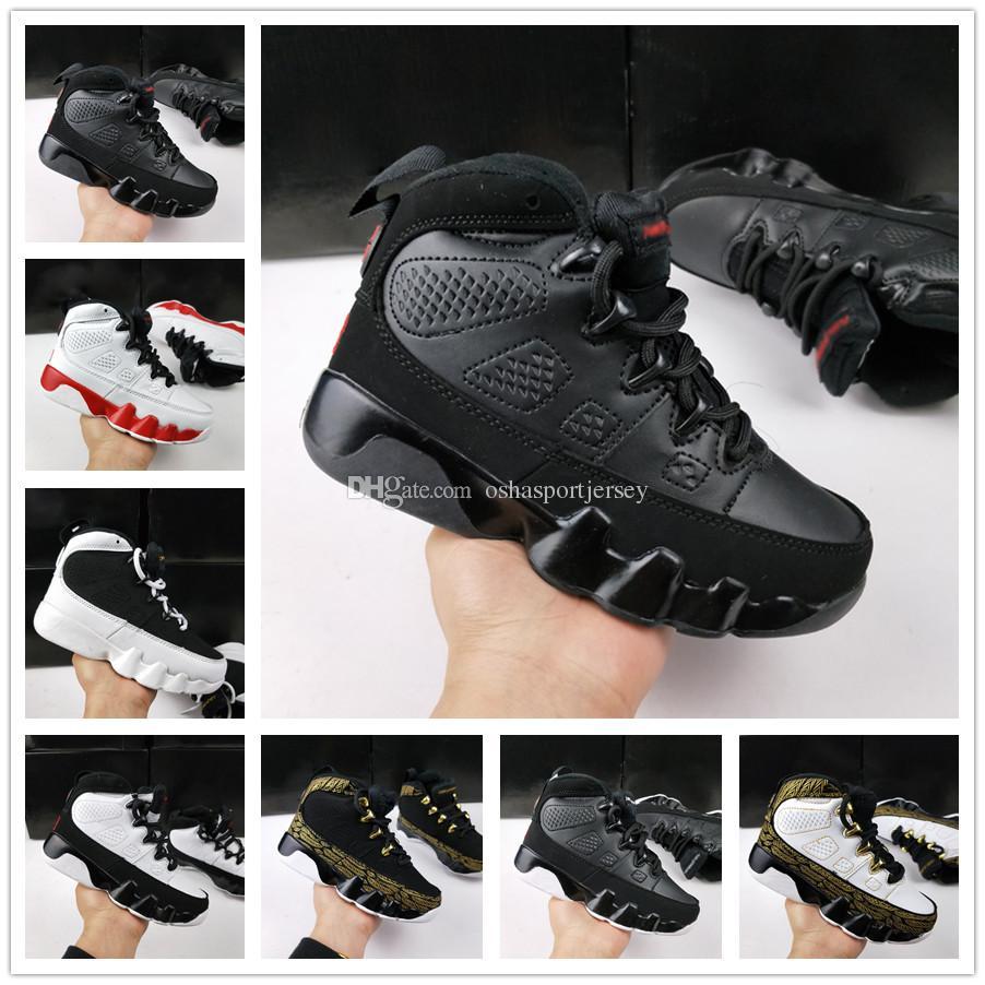 super popular ed91f ed622 Compre Nike Air Jordan Aj9 2018 Niños 6 9 Zapatos De Baloncesto The Spirit  LA Oreo Space Jam PE Antracita Criado Negro Niños Jóvenes 6 9 IX Corriendo  Boy ...