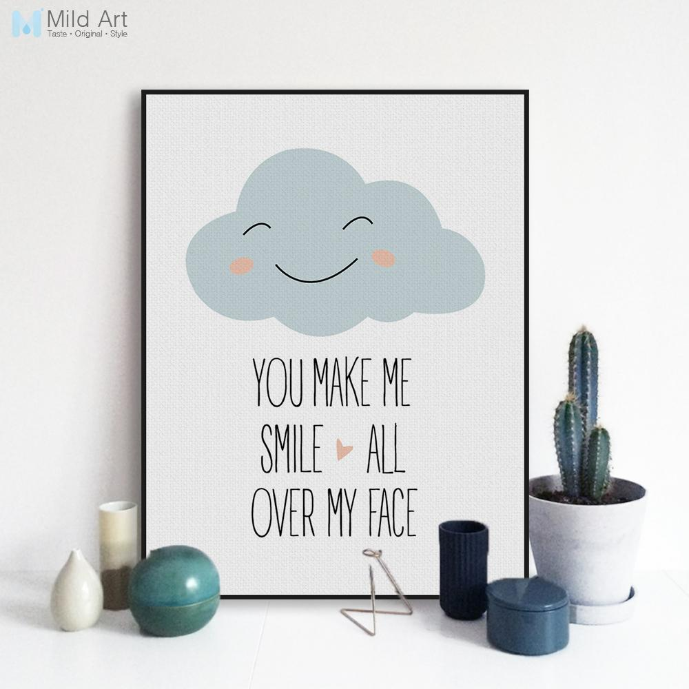 2019 Modern Motivational Love Quotes A4 Art Print Poster Smile Wall