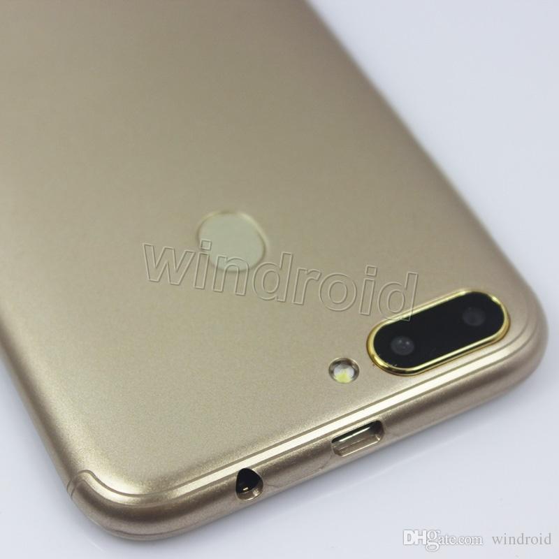 Telefono cellulare 3G Smart da 5 pollici più economico Android 6.0 MTK6580 Quad Core 4GB Telefono cellulare Dual SIM WCDMA Smart Wake Face Sblocco Smartphone R15