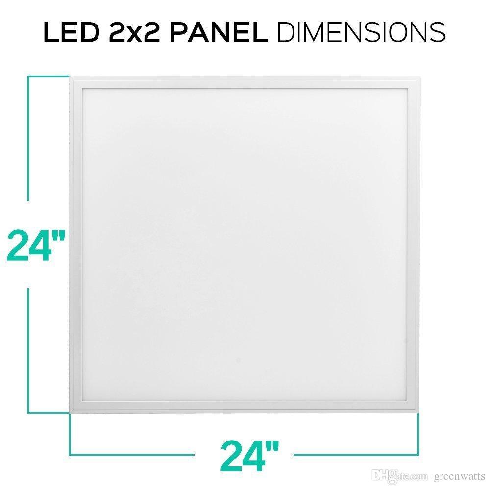 Luz do painel LED 2x2 UL DLC FCC 36W Lâmpada de painel quadrado 0-10V Dimmable suspenso 2 * 2FT 2 * 4FT 603 * 603mm 603 * 1206mm por ups
