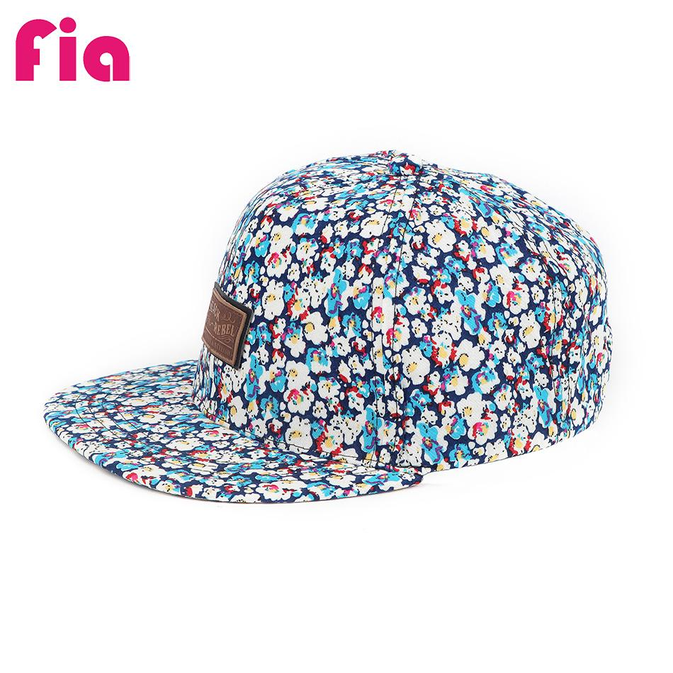 ae5a38fdbad FIA Summer Baseball Cap Hip Hop Caps Men Women Floral Flower Snapback Hat  Flat Adjustable Cap Sun Hats Boy Girl ZZ4049 Fitted Cap Baseball Caps For  Men From ...
