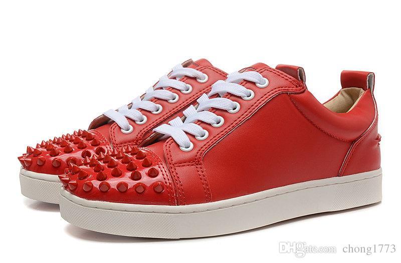 206d2435 Compre Hombre Zapatillas De Deporte De Diseño Para Mujer Botas De Ante  Rojas Botas De Cuero Junior De Pico Bajo Zapatillas De Deporte De Exterior  De Color ...