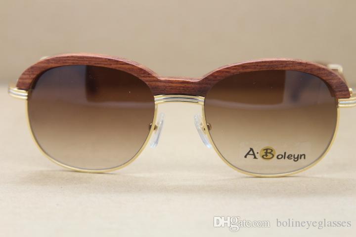 Großhandelssonnenbrillen heiße neue 1116443 hölzerne Sonnenbrillemänner Designer-Sonnenbrille-Dekorholzrahmen Rahmen-Größe: 57-18-135mm