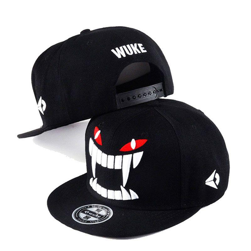 aef27f40c0f 2019 2018 Big Teeth Print Baseball Cap Tide Flat Hip Hop Caps Street Dance Skate  Cap Women Men S Hat Casual Adjustable Snapbacks Hats From Fulary