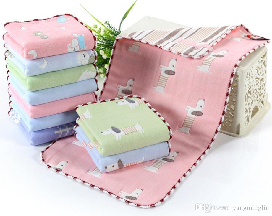 Children Kids newborn baby saliva towel handkerchief Cotton gauze 6 layers children's towel cotton infant towel wholesale 25x50cm