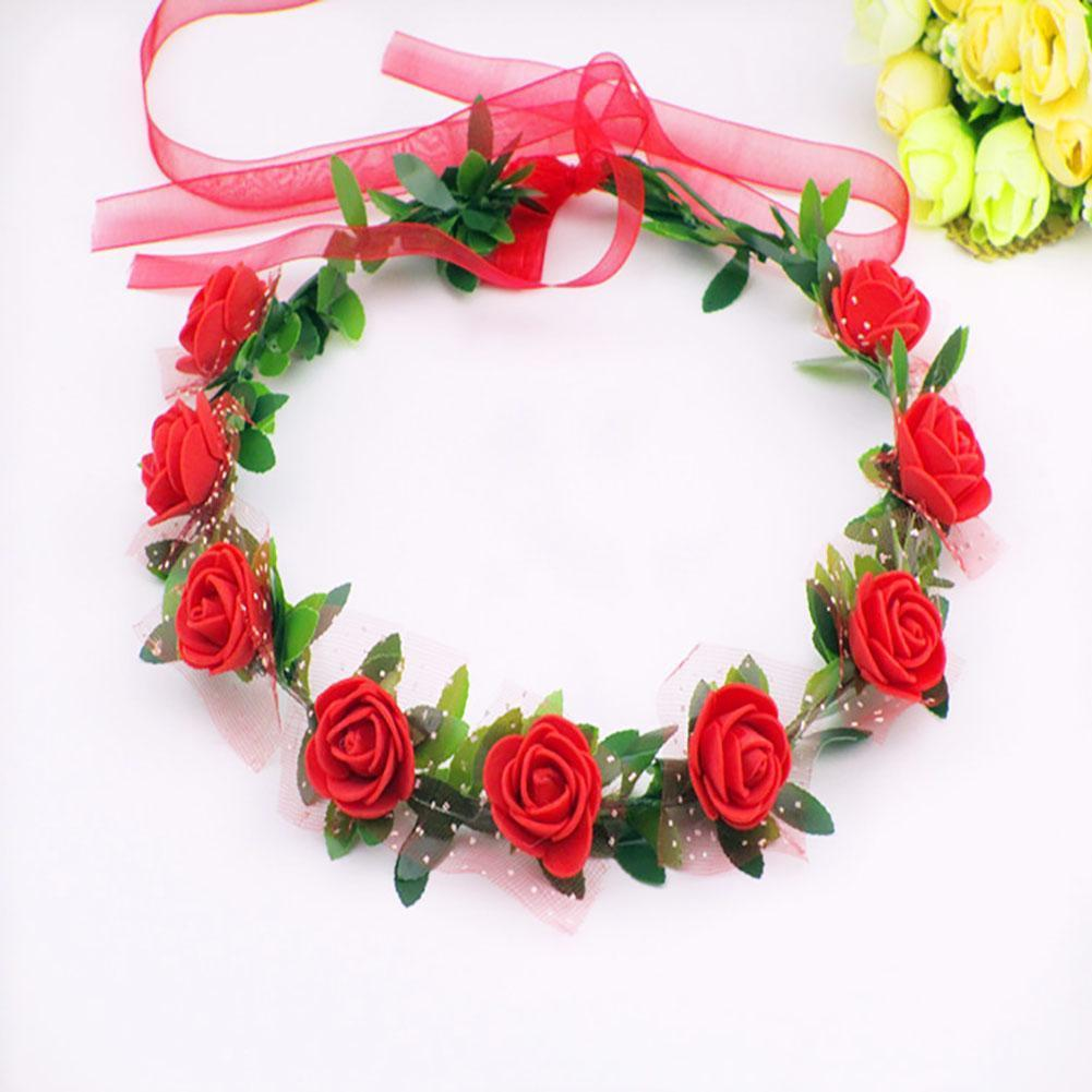 Handmade Flower Crown Delicate Head Wreath Wedding Bride Girl