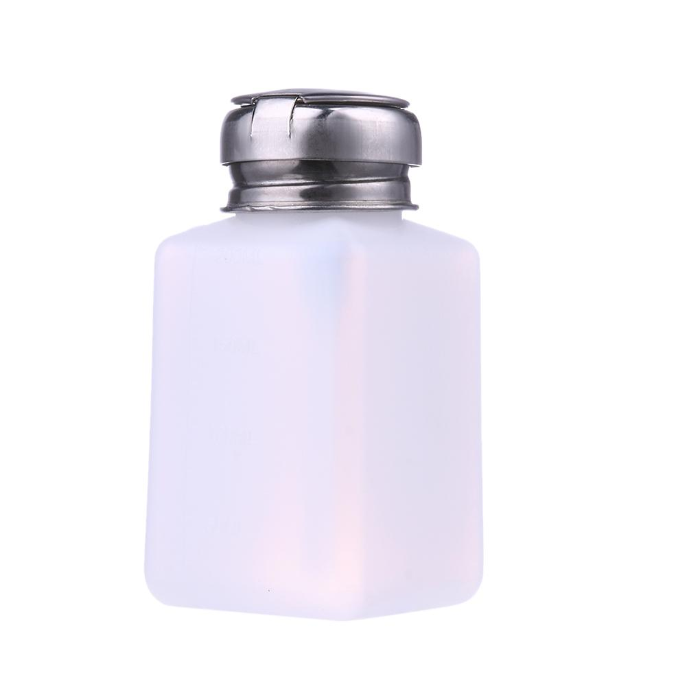 Top Quality 200ML Empty Pump Liquid Alcohol Press Nail Polish Remover Cleaner Bottle Dispenser Make Up Refillable Container