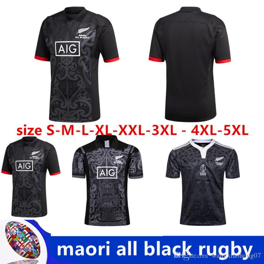 2018 2019 New Zealand All Blacks MAORI Rugby Jerseys 17 18 All ... a2579ebee