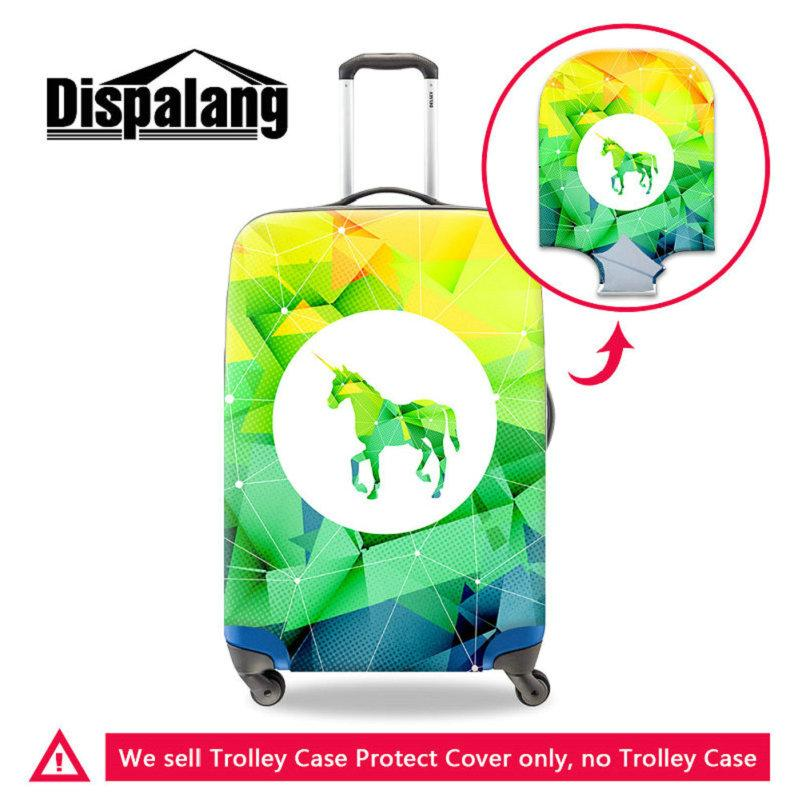 Diamond Unicorn Pattern Thick Elastic Luggage Protective Cover Suit For 18-30 Inch Suitcase Waterproof Dustproof Case Covers For Teenagers