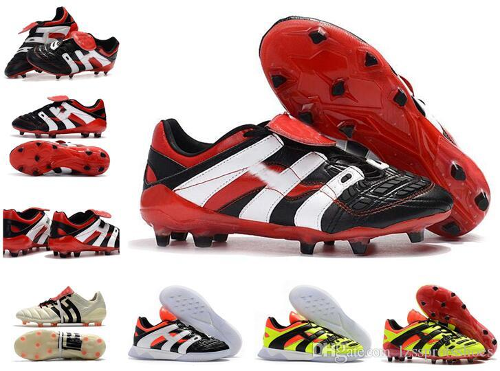pretty nice 86cc4 5f922 2019 Predator Accelerator 1998 Electricidad David Beckham Tacos De Fútbol  Zapatos De Fútbol Para Hombre Botas De Fútbol Con Caja Por Lzssprotsshoes,  ...