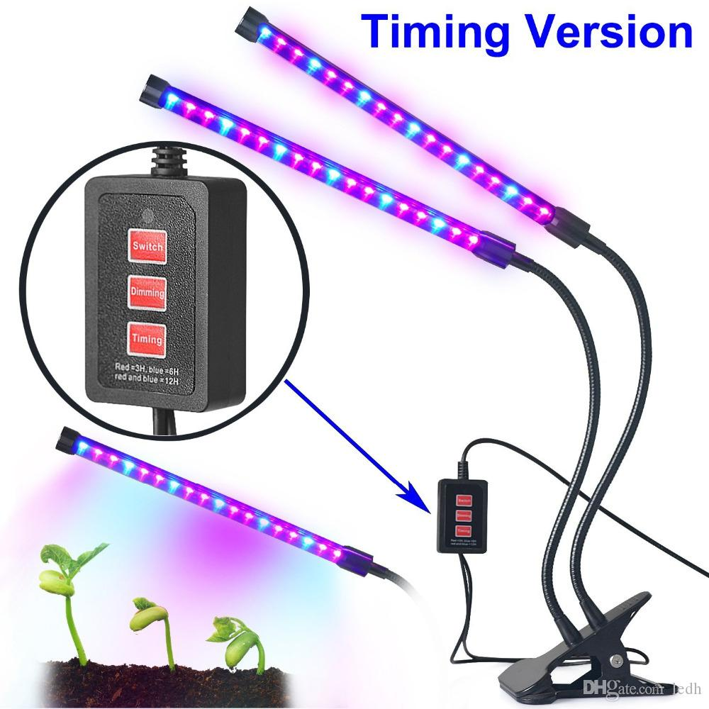 18w Dual Head Timing Grow Lamp, 36 Led Chips With Red/Blue Spectrum ...
