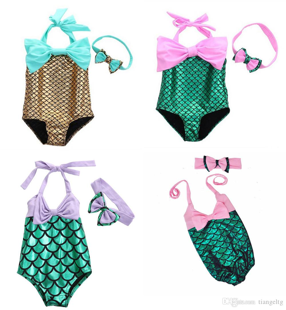 71006d572a89a Acheter Ensembles De Bikini Bébé Fille Sirène Bikini Ensembles De Maillots  De Bain Une Pièce La Sirena De $4.73 Du Tiangeltg | DHgate.Com