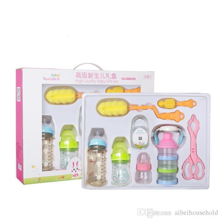 943033f11 2019 BPA Free Kid Feeding Gift Sets Baby Breastfeeding Bottles ...