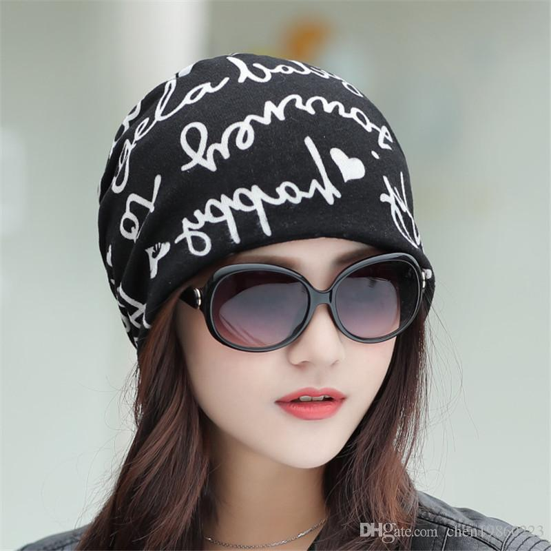 New smiley letter pullover hat female fashion multifunctional pregnant woman month hat spring and autumn models four colors