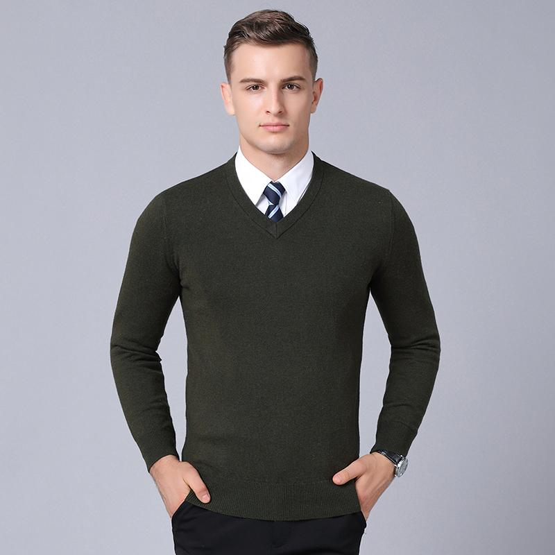 46c161b5fb8 2019 MACROSEA Classic Style Solid Color 100% Wool Men S Business Casual  Pullover Spring Autumn Men S Knitwear Wool Sweater From Forseason