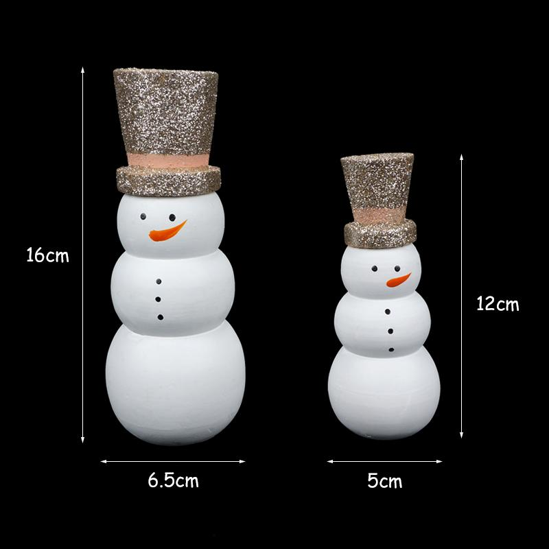 wooden christmas snowman decoration for home party diy decor xmas 2019 happy new year gifts toys christmas ornaments free ship outdoor holiday decorations