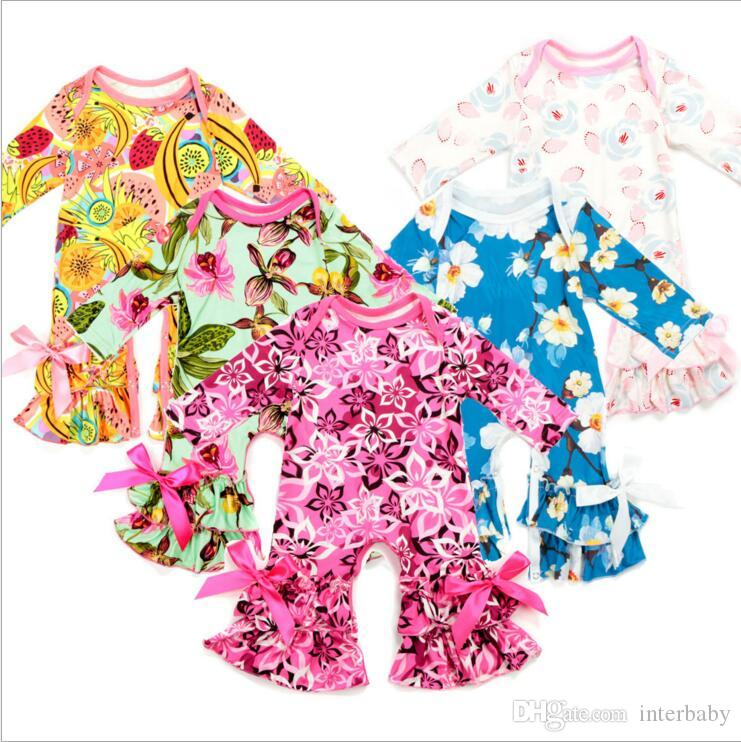 c88dd75fc53a 2019 Newborn Baby Girl Clothes Children Floral Print Rompers Infant ...
