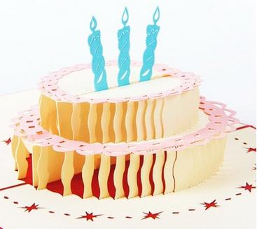 3D Pop Up Handmade Laser Cut Vintage Cards Birthday Cake With Candle Creative Gifts Postcard Greeting Free Animated Christmas