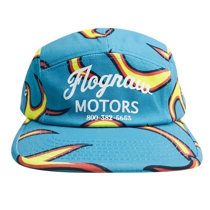 687207f8d9cb 2019 GOLFWANG Hat Blue Flame Cap Flat Tongue Adjustable Skateboard ...
