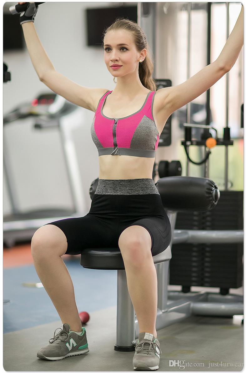 스포츠 브래지어 여자 Underwears 더블 와이어 무료 GYM 휘트니스 운동 브래지어를 밀어