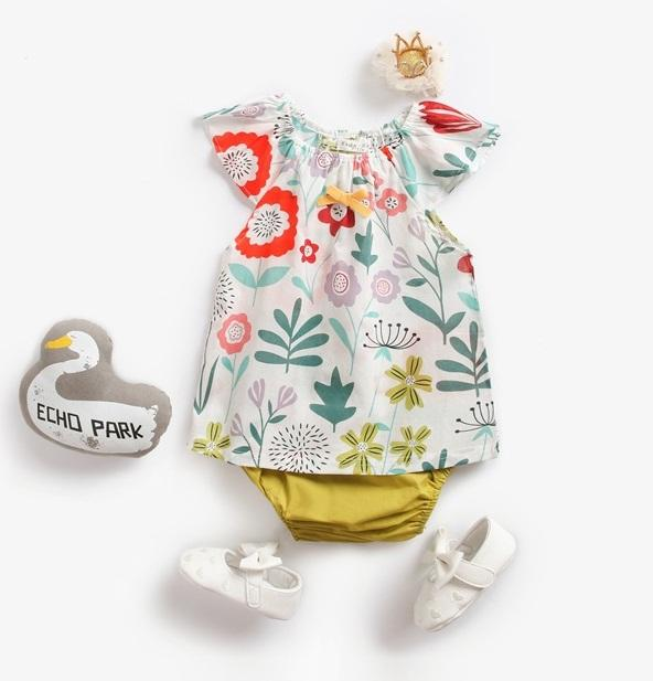 15f53e5ea Baby Girls Floral Cap Sleeves+Pants Outfits Summer Baby Boutique ...