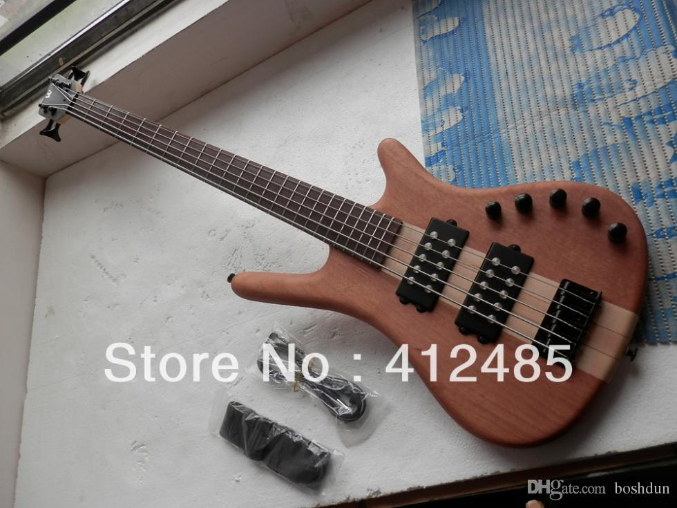 Warwick Corvette NT 5 String Brown bass electric guitar in Natural color