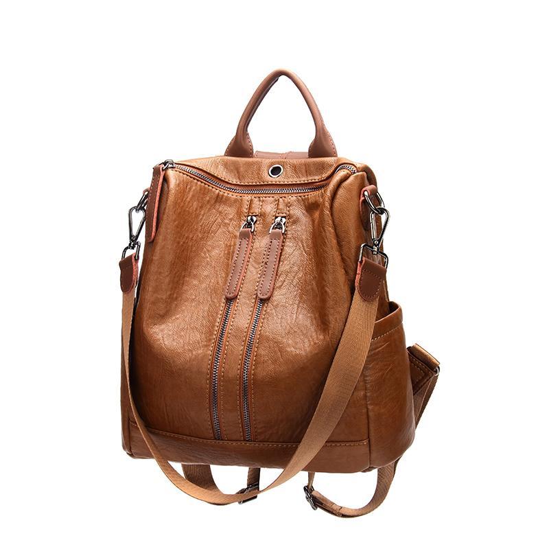 ee735b360a Zaino per donna vintage zaino PU scuola in pelle backpac per ragazze  adolescenti casual grandi borse a tracolla 2768-13