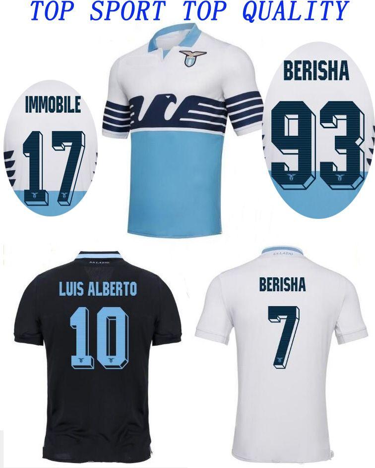 Top Thai Quality 18 19 Lazio Soccer Jersey 2018 19 LUCAS KISHNA IMMOBILE  Football Jerseys BASTA F.ANDERSON SERGEJ Football Shirt Soccer Wear UK 2019  From ... 2f70e80eed11b