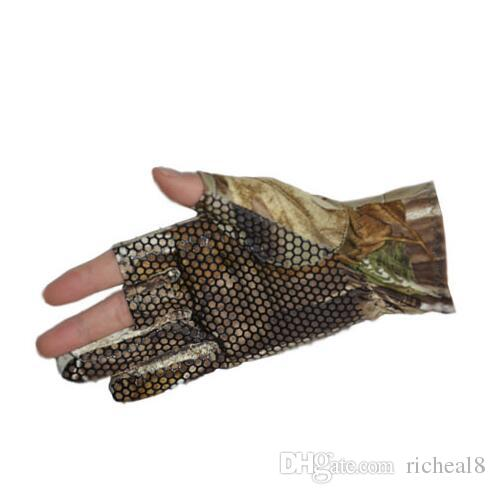 Professional Fishing Gloves Outdoor Sports Camo 3 Fingers Cut Men Camouflage Glove Soft Warm Anti-slip Waterproof