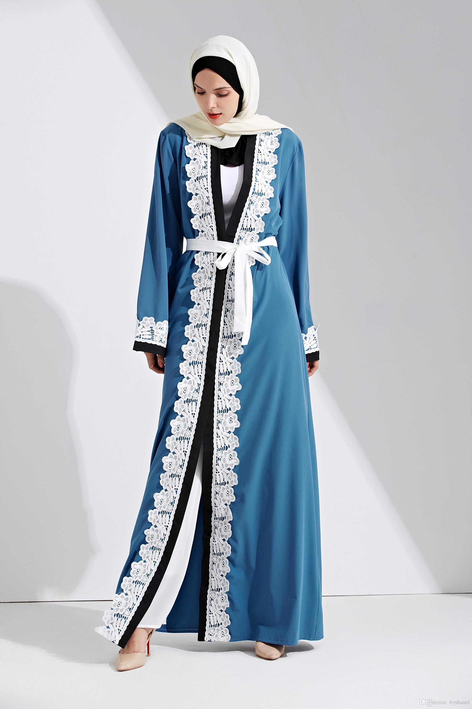 0553e61c072a 2019 Islamic Women Wear New Model Abaya In Dubai 2018 Popular In Stock  Muslim Kimono Dubai Front Open Abaya From Byshanel, $25.13 | DHgate.Com