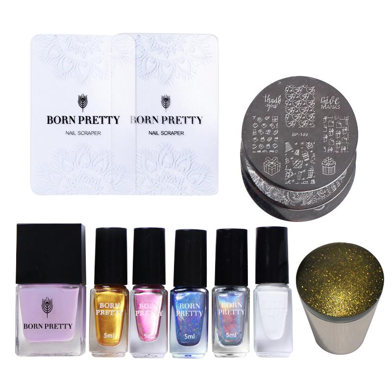 Born Pretty Thanksgiving Stamping Nail Art Set With Holographic ...